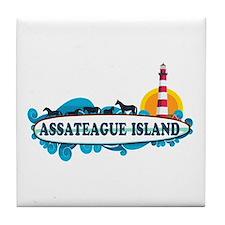 Assateague Island VA Tile Coaster