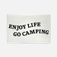 Enjoy Life Go Camping Rectangle Magnet