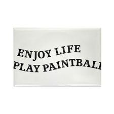 Enjoy Life Play Paintball Rectangle Magnet