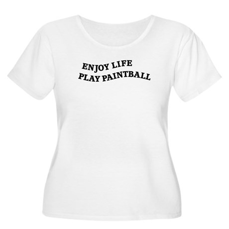 Enjoy Life Play Paintball Women's Plus Size Scoop