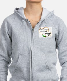 Abortion is NOT AN OPTION for BabyBigTalk Zip Hoodie