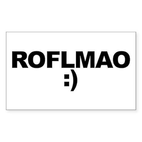 ROFLMAO Sticker (Rectangle)