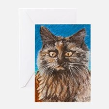 Fence Cat Greeting Card