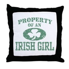 Property of an Irish Girl Throw Pillow