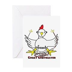 Cocky Contractor Greeting Card