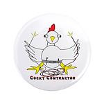 """Cocky Contractor 3.5"""" Button"""