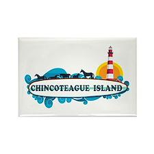 Chincoteague Island VA Rectangle Magnet