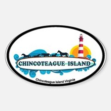 Chincoteague Island VA Sticker (Oval)