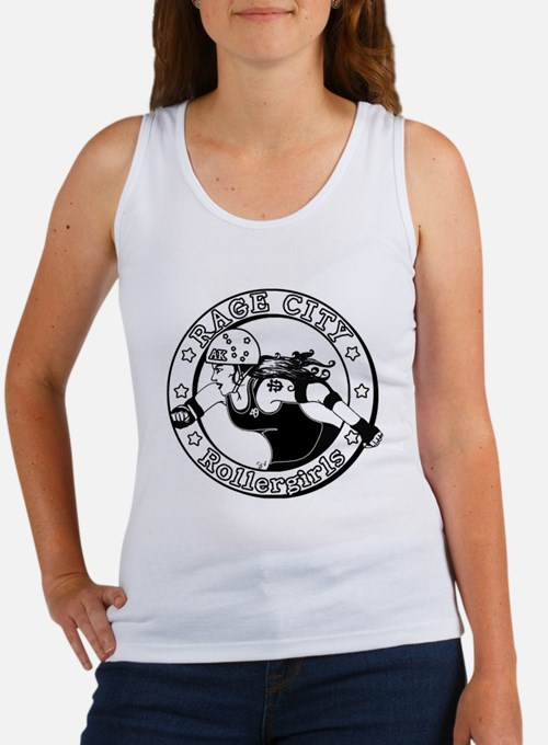 Black n' White Rage City Plain Women's Tank