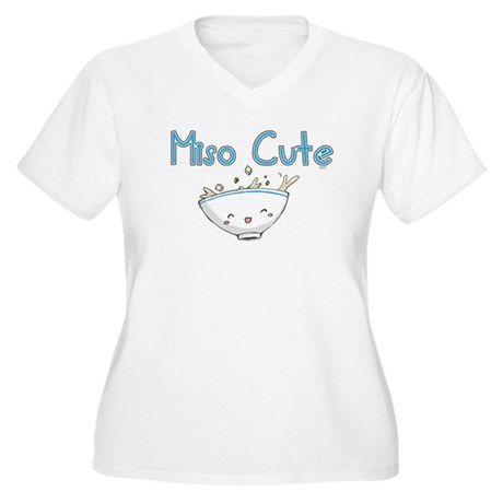 Miso Cute 2 Women's Plus Size V-Neck T-Shirt