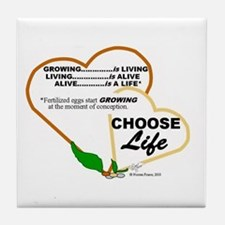 Abortion is NOT AN OPTION for BabyBigTalk Tile Coa