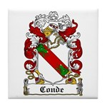 Conde Coat of Arms Tile Coaster