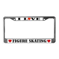I Love Figure Skating License Plate Frame