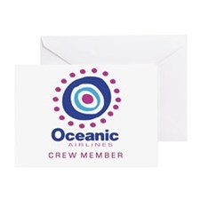 'Oceanic Airlines Crew' Greeting Card