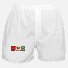 Peace, Love, Cheese Boxer Shorts