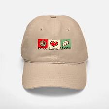 Peace, Love, Cheese Baseball Baseball Cap