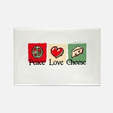 Peace, Love, Cheese Rectangle Magnet