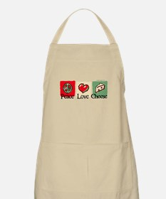 Peace, Love, Cheese Apron
