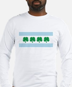 Irish Chicago Flag Long Sleeve T-Shirt