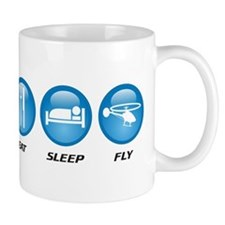 Eat Sleep Fly Small Mug