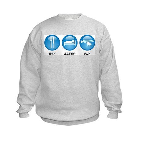 Eat Sleep Fly Kids Sweatshirt