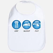 Eat Sleep Fly Bib