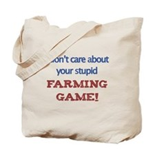 Funny Anti Farmville Tote Bag