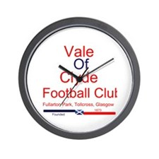 Vale of Clyde FC Football Wall Clock