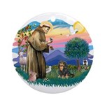 St Francis #2 / Cavalier (BT) Ornament (Round)