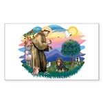 St Francis #2 / Cavalier (BT) Sticker (Rectangle)