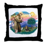 St Francis #2 / Cavalier (BT) Throw Pillow