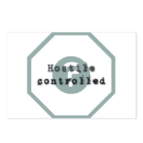 Hostile Controlled Postcards (Package of 8)