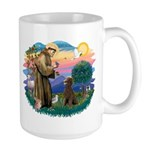 St Francis #2 / Poodle (ST-Ch) Large Mug