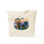 St Francis #2 / Poodle (ST-Ch) Tote Bag