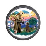 St Francis #2 / Poodle (ST-Ch) Wall Clock