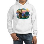 St Francis #2 / Poodle (ST-Ch) Hooded Sweatshirt
