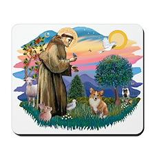 St. Francis #2 / Corgi (Pem) Mousepad