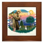 St Francis #2 / Yorkie (Brewer) Framed Tile