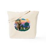 St Francis #2 / Yorkie (Brewer) Tote Bag