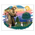 St Francis #2 / Yorkie (Brewer) Small Poster