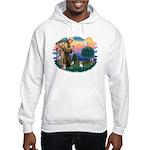 St Francis #2 / Yorkie (Brewer) Hooded Sweatshirt