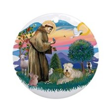 St Francis #2 / Wheaten Ornament (Round)