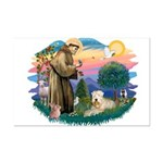 St Francis #2 / Wheaten Mini Poster Print
