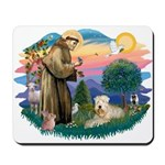 St Francis #2 / Wheaten Mousepad