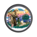 St Francis #2 / Wheaten Wall Clock