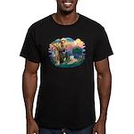St Francis #2 / Wheaten Men's Fitted T-Shirt (dark