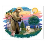 St Francis #2 / Wheaten Small Poster