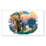 St Francis #2 / Wheaten Sticker (Rectangle 10 pk)