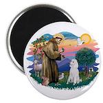 St Francis #2 / Poodle (STD W) Magnet