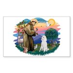 St Francis #2 / Poodle (STD W) Sticker (Rectangle
